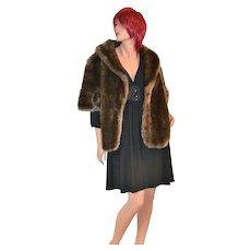 Glenoit ~ Deep Pile Faux Fur Cape/Coat