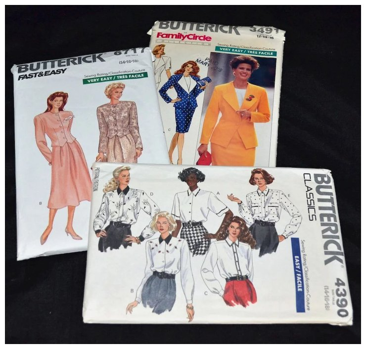 Butterick ~ Set of 3 Women\'s Clothing Sewing Patterns : Kitsch ...