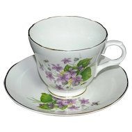Crown Trent ~ Fine Bone China Teacup & Saucer