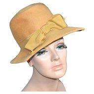 2253ca415d6 c1960s Yves Saint Laurent Paris New York Designer Yellow w/ Orange ...