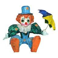 Jose Torres ~ Paper Mache Clown w/ Umbrella ~ Mexico