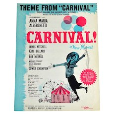 1961 Carnival! 'Love Makes the World Go 'Round' Sheet Music