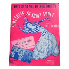 1942 'Something To Shout About' Sheet Music