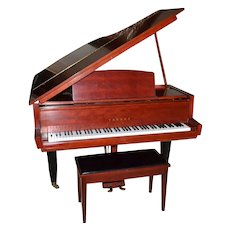 "1962 RARE Museum Quality Yamaha 5'2"" RED Baby Grand Piano & Bench ~ Seattle World Fair"