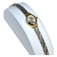 Vanity Fair ~ Diamond Chip Watch w/ Snake Mesh Wristband