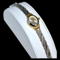 Vanity Fair ~ Diamond Chip Watch w/ Snake Mesh Wristband