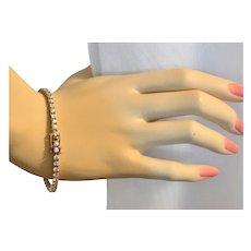 Sterling Silver Vermeil Cubic Zirconia Tennis Bracelet