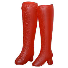1960s Barbie ~ Tall Tomato Red Go-Go Boots