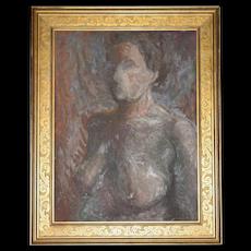 Listed Artist Olga Itasca Sears ~ Nude Female Original Framed Oil Painting w/ Bonus Biography Book