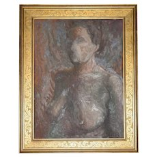 Listed Artist Olga Itasca Sears ~ Nude Female Original Framed Oil Painting w/ Bonus Biography Book