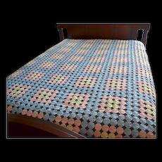 Pastel Pinwheel Block Pattern Handmade Quilt