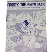 1950 'Frosty the Snowman' Sheet Music
