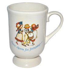 1960s Holly Hobbie Ceramic Footed Mug