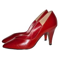 1960s Donaire ~ Red Kidskin Leather Heels