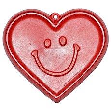 1982 Hallmark ~ Smiley-Face Heart Cookie Cutter