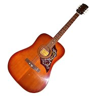 1960s Ariana ~ Acoustic Guitar w/ Awesome Flame Pick Guard