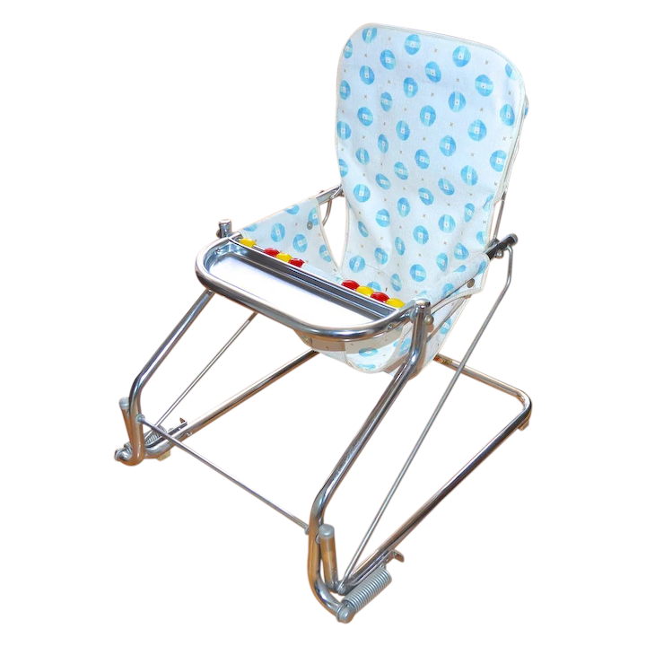 Tremendous 1950S Taylor Tot Baby Bouncer W Abacus Chrome Aluminum Chair Pabps2019 Chair Design Images Pabps2019Com