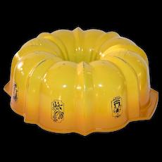 1970s Nordic Ware ~ 'Best Bundt' Gold Enamel Fluted Tube Cake Pan
