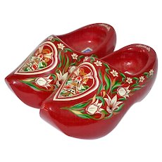Jundra Red Wood Dutch Clogs ~ Made in Holland
