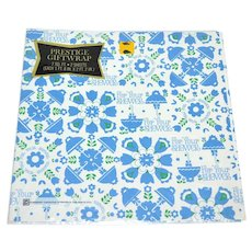 1960s Prestige ~ 'For Your Shower' Gift Wrap/ Wrapping Paper
