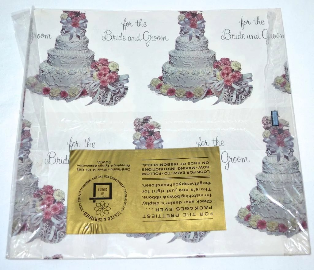 1950s American Greetings Wedding Or Bridal Shower Gift Wrap