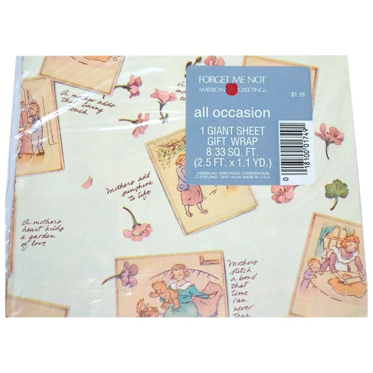 Forget me not american greetings mothers day or all occasion gift forget me not american greetings mothers day or all occasion gift wrap m4hsunfo
