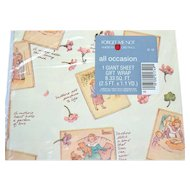 Forget-Me-Not American Greetings ~ Mother's Day or All Occasion Gift Wrap/ Wrapping Paper