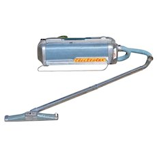1952 Electrolux Model LX ~ Atomic Blue Canister Vacuum w/ Suction Nozzle & Hose