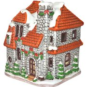 1992 Lefton Colonial Village Luminary Tealight Cottage