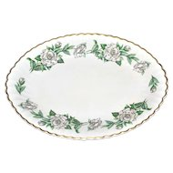 1950s Syracuse Gardenia Oval Serving Platter