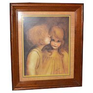 1960s 'Little Kiss' Margaret Kane Framed Print