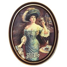 "Fabcraft Pepsi Cola USA 14.5"" Oval Metal Tray"