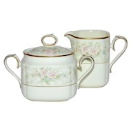 Noritake Willowbrook Bone China Covered Sugar/Creamer