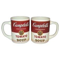 1960s Set of 2 Campbell's Tomato Soup Mugs