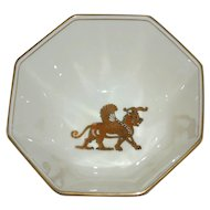 1977 Fitz and Floyd 'Alexandria' Egyptian Inspired Octagonal Porcelain Bowl