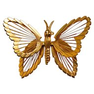 Monet Signed 3-D Butterfly Brooch/Pin