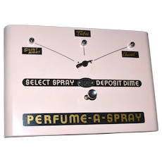 1950s Restored & Working! RARE Perfume-A-Spray Coin Operated Vending Machine w/ Keys