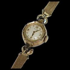 Deco Era Elgin 10K Rolled Yellow Gold Watch ~ Not Working