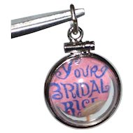 1960s Bridal Rice Double-Sided Sterling Bubble Charm/Pendant