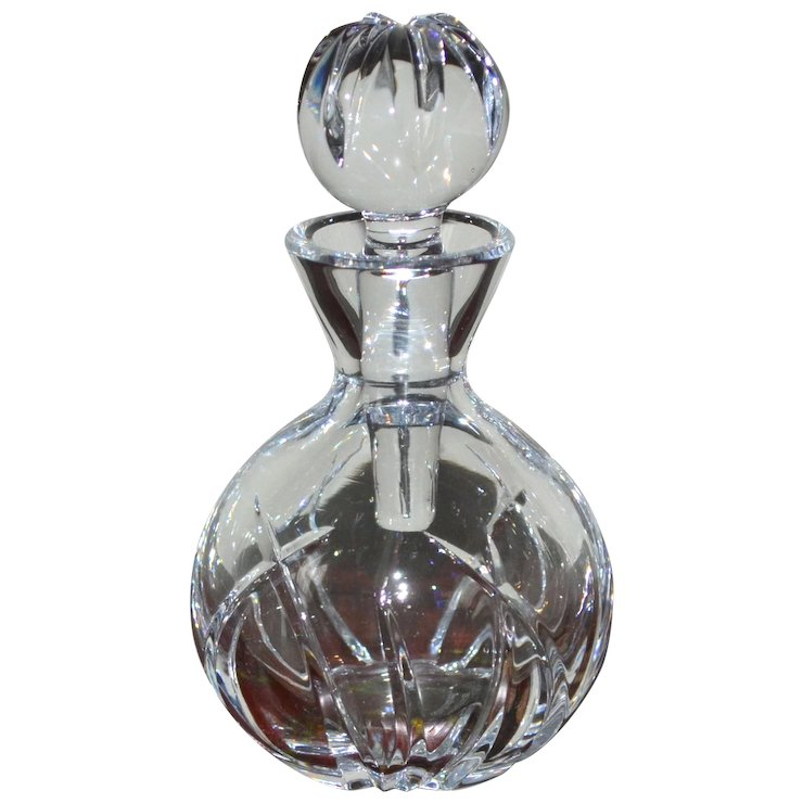 Marquis By Waterford Crystal Glass Perfume Bottle W Dauber Sold