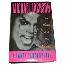 Michael Jackson 'The Magic and the Madness' First Edition Hardcover Book w/ DJ