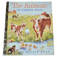 1992 The Animals of Farmer Jones 50th Anniversary Little Golden Book
