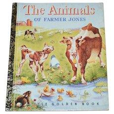 1992 The Animals of Farmer Jones 50th Anniversary Little Golden Book