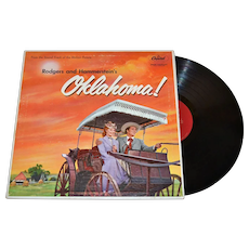 1955 Rodgers and Hammerstein's OKLAHOMA! LP Record w/ Foldout History