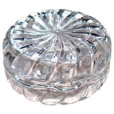 Signed Italy Swirled Glass Candy Inspired Trinket or Candy Lidded Dish