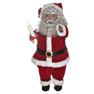 "Large 24"" Animated African American Electric Mechanical Christmas Santa Claus ~ WORKS!"