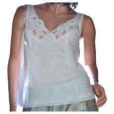 Wonder Maid White Lace Cotton Blend Camisole ~ Size 36