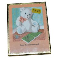 NOS Antioch Bookplates Set of 50 Teddy Bear Gummed Labels SEALED in Box