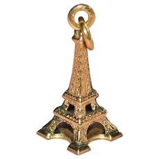 10K Gold Eiffel Tower Paris France Charm/Pendant