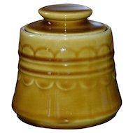 1970s Homer Laughlin Golden Harvest Covered Sugar Bowl